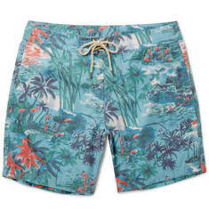 Faherty - Mid-Length Printed Swim Shorts