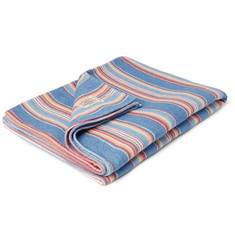 Faherty Adirondack Striped Brushed-Cotton Blanket