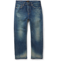 Chimala - Slim-Fit Cropped Selvedge Denim Jeans