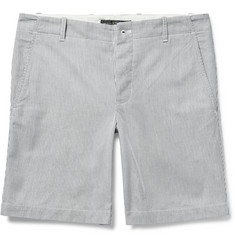 Freemans Sporting Club - Striped Cotton-Pincord Shorts