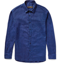 Freemans Sporting Club Pin-Dot Linen Shirt