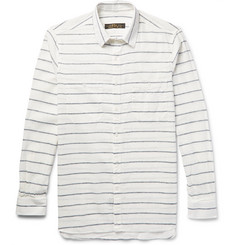 Freemans Sporting Club - Striped Linen and Cotton-Blend Shirt