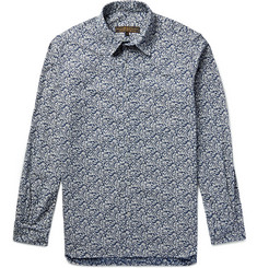 Freemans Sporting Club Slim-Fit Floral-Print Cotton and Linen-Blend Shirt