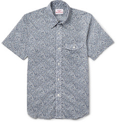Battenwear Lawan Slim-Fit Printed Cotton Shirt