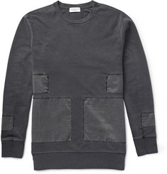 John Elliott Panelled Washed Loopback Cotton-Jersey Sweatshirt
