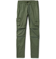 John Elliott Slim-Fit Tapered Cotton Cargo Trousers