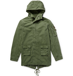 John Elliott Cotton-Canvas Hooded Fishtail Parka
