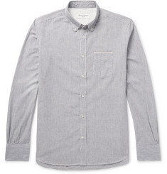 Officine Generale Striped Cotton Oxford Shirt