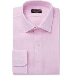 Emma Willis Pink Slim-Fit Linen Shirt