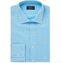 Emma Willis Aqua Slim-Fit Linen Shirt