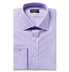 Emma Willis Lilac Slim-Fit Double-Cuff Cotton Shirt