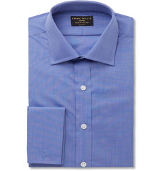 Emma Willis Blue Slim-Fit Double-Cuff Cotton Shirt