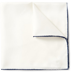 Emma Willis - Contrast-Tipped Silk-Twill Pocket Square