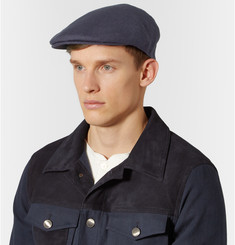 Lock & Co Hatters Glen Linen Flat Cap