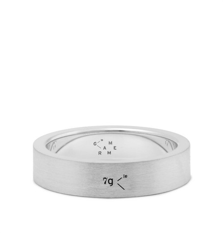 le gramme male 45900 le gramme 7mm brushed sterling silver ring silver