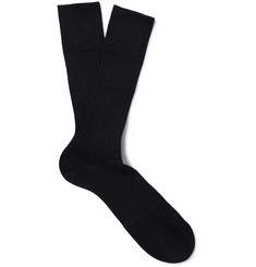 Falke - No. 13 Ribbed Pima Cotton Socks