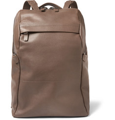 Álvaro - Agape Grained-Leather Backpack