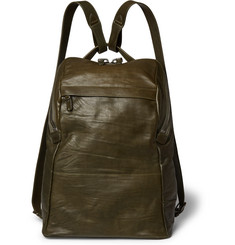 Álvaro Agape Washed-Leather Backpack