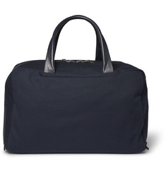 Álvaro - Leather-Trimmed Canvas Holdall