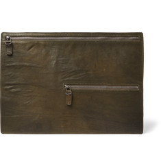 Álvaro Archivia Washed-Leather Pouch