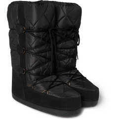 Moncler Grenoble Suede-Trimmed Shell Moon Boots