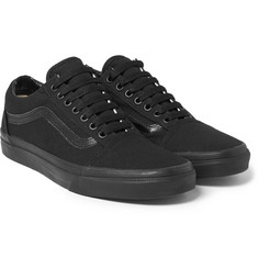 Vans - Old Skool Leather-Trimmed Canvas Sneakers