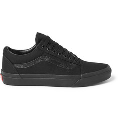 Vans Old Skool Leather-Trimmed Canvas Sneakers
