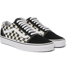 Vans - Old Skool Checkerboard-Panelled Canvas Sneakers