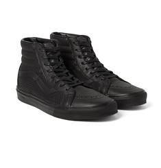 Vans - SK8-Hi Reissue Snake-Effect Leather High-Top Sneakers