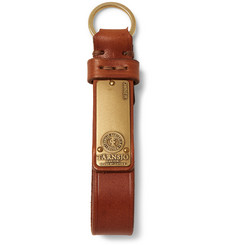 Tarnsjo Garveri Icon Brass-Trimmed Leather Key Fob