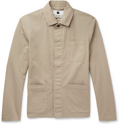 NN07 Oscar Slim-Fit Cotton-Blend Canvas Field Jacket