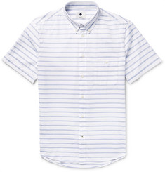 NN07 New Derek Slim-Fit Striped Cotton Oxford Shirt