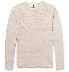NN07 Casper Slim-Fit Mélange Linen and Wool-Blend Sweater