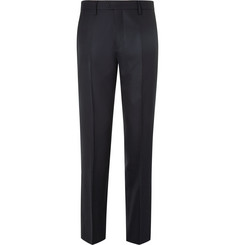 NN07 Theodore Slim-Fit Wool-Piqué Trousers