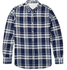 Officine Generale - Checked linen and cotton-blend shirt