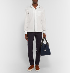 Officine Generale Camp-Collar Piped Cotton Shirt