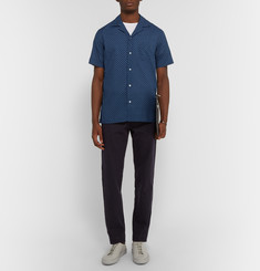 Officine Generale Camp-Collar Polka-Dot Cotton Shirt