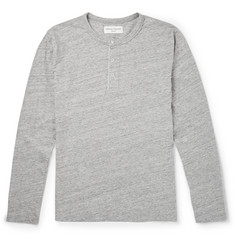 Officine Generale Cotton-Jersey Henley T-Shirt