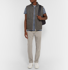 Officine Generale Striped Knitted Cotton T-Shirt