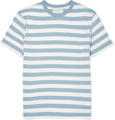 Officine Generale Slim-Fit Striped Knitted Cotton T-Shirt