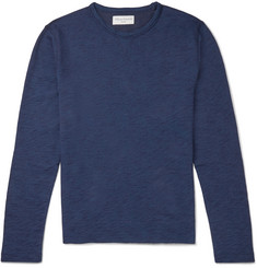 Officine Generale Loopback Cotton-Terry Sweater