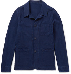 Officine Generale Vincent Slim-Fit Cotton-Seersucker Overshirt
