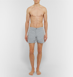Officine Generale - Roman Short-Length Textured-Shell Swim Shorts
