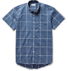 Saturdays NYC Esquina Slim-Fit Button-Down Collar Checked Cotton Shirt