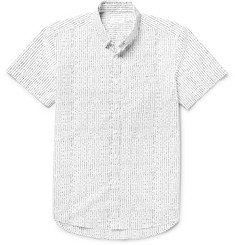 Saturdays NYC Esquina Slim-Fit Button-Down Collar Printed Cotton-Poplin Shirt