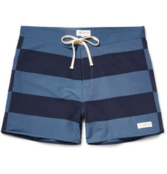 Saturdays NYC - Grant Mid-Length Striped Swim Shorts