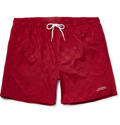 Saturdays NYC Timothy Checkerboard Mid-Length Swim Shorts