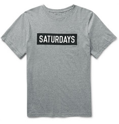 Saturdays NYC Slim-Fit Printed Cotton-Jersey T-Shirt