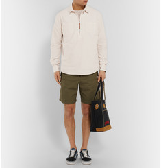 Albam Pop Over Cotton Zip-Up Shirt