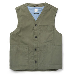 Albam - Sanded Cotton-Canvas Gilet